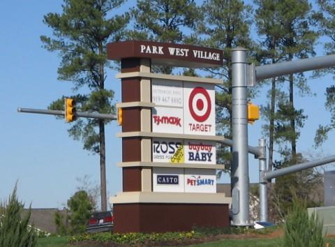 Park West Village sign