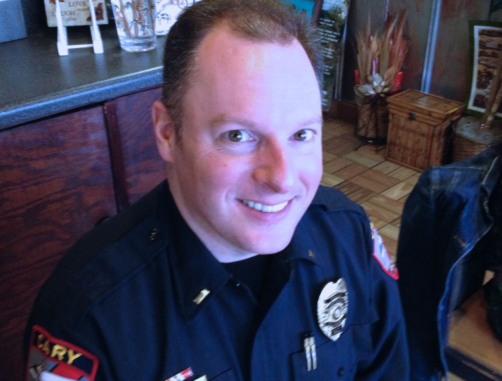 Officer Ken Quinlin of the Cary Police Department heads up Project Phoenix
