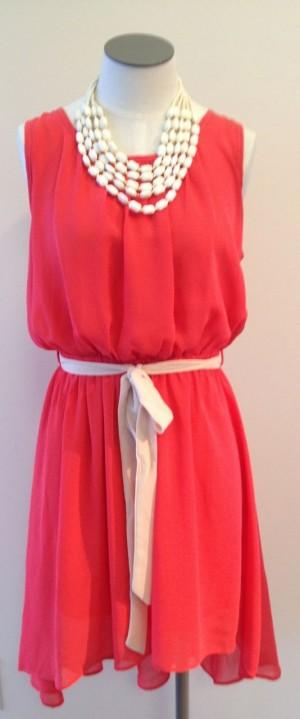 Coral dress at GiGi's