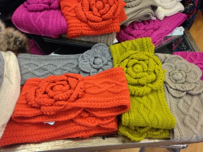 These cute head wraps at Luscious Couture will keep her warm and fashionable