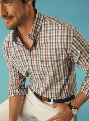 Bold checks in unexpected colors are the new Must-have shirt for the guys