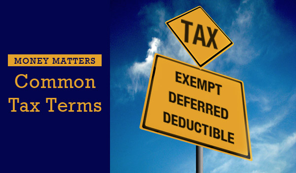 common-tax-terms
