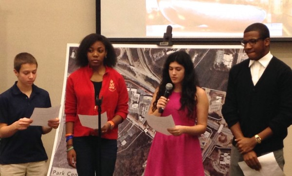 Students from Research Triangle High School spoke at the announcement