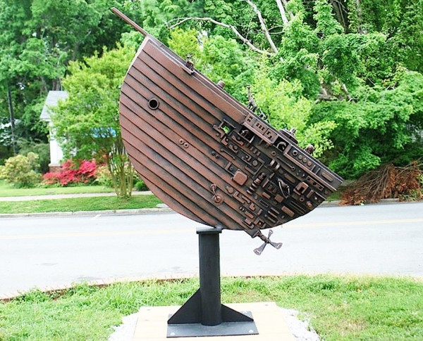 Arc by Charles Pilkey is one of 5 sculptures that residents can vote to have included in the 2014 CVA Outdoor Sculpture Exhibition.
