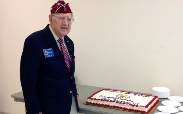 Jim Sansome was awarded the French Legion Medal of Honor