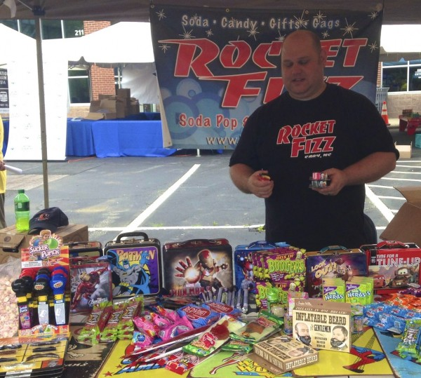 Rocket Fizz was on hand with old fashioned candy and memorabilia