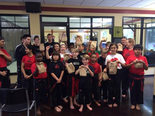 The Families at Johnson's Tiger Rock Martial Arts are packaging 1000 meals