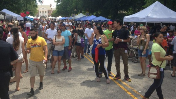 Crowds fill Academy Street at the 10th annual Ritmo Latino