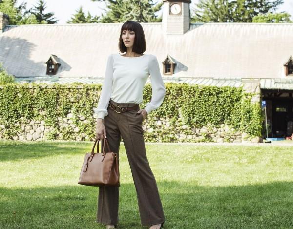 Ralph Lauren blouse and trousers. Photo courtesy Belk Fashion Dept