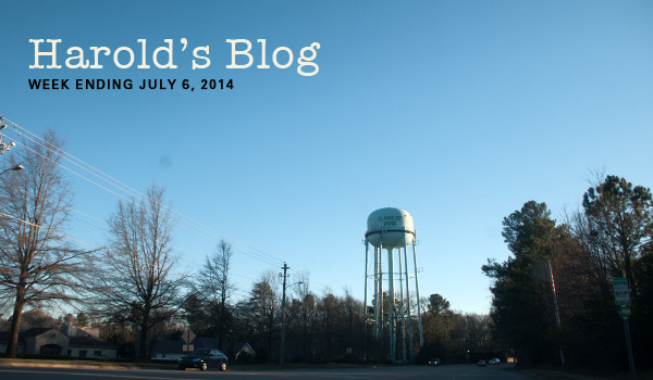 harolds - water tower & state budget