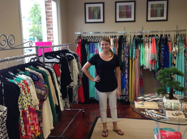 Owner Lauren King in her store Paisley in Downtown Cary