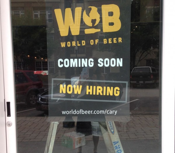 World of Beer is hiring on the back side of the Arboretum Shopping center on North Harrison