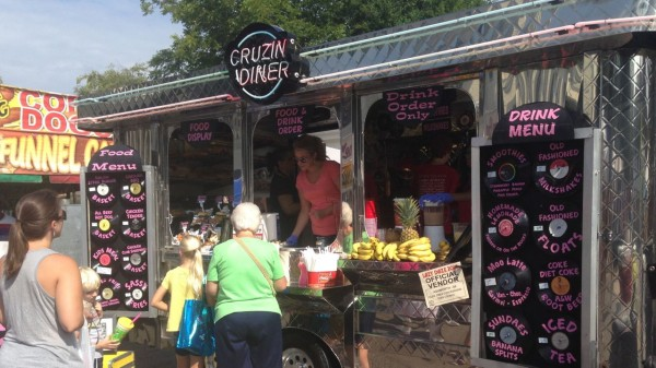 one of the food trucks in Ashworth Village