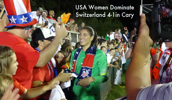 Hope Solo in Cary