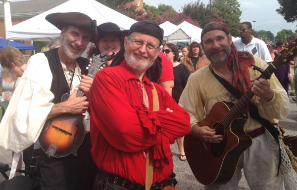 The Motley Tones pirate band wandered the festival entertaining crowds with funny pirate songs