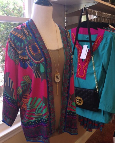 AT Paisley, downtown cary's newest boutique college girls will be checking out layering pieces like this kimono