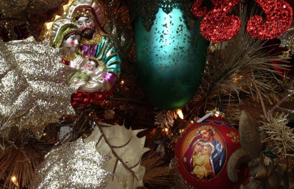 Images of madonna and the baby Jesus along with creches of all sizes can be found in the Faith Tree at Garden Supply