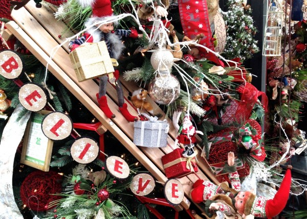 A Detail from one of Garden Supply Company's incredible Holiday Trees.