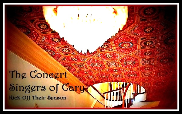 The Concert Singers will perform in Downtown Cary's beautiful Matthews House.