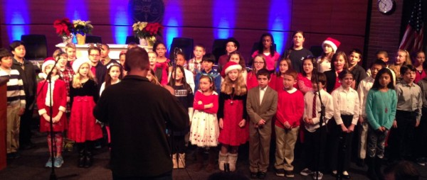 Cary Elementary School chorus led by  Director Tom Teachout