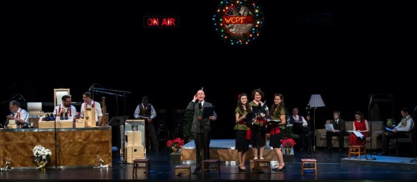 The full stage scene for Its a Wonderful Life by the Cary Players