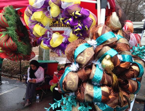 wreath seller