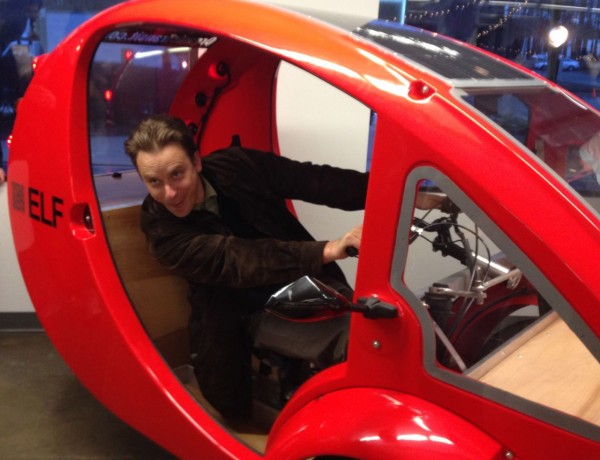 visitors to the launch could test drive Elf hybrids