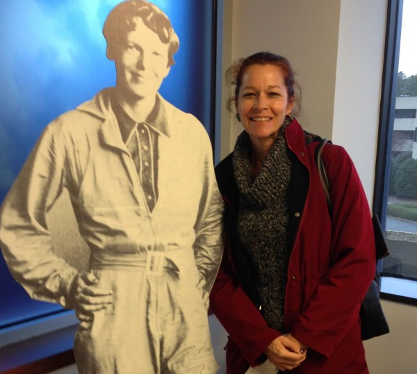 I participated in the twitter scavenger hunt and Amelia Earhart was one of the clues.