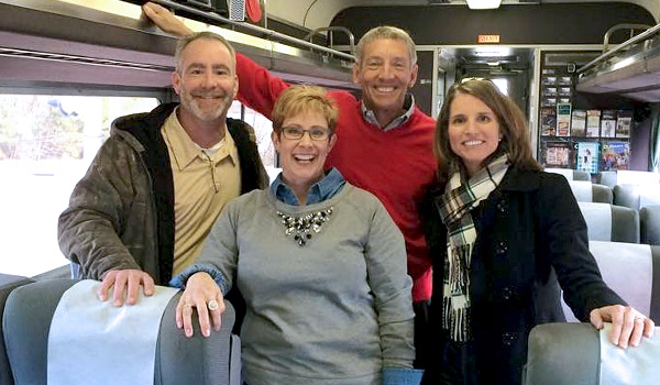 Cary Council on the train heading to Charlotte - Copyright Bush Photography ;-)