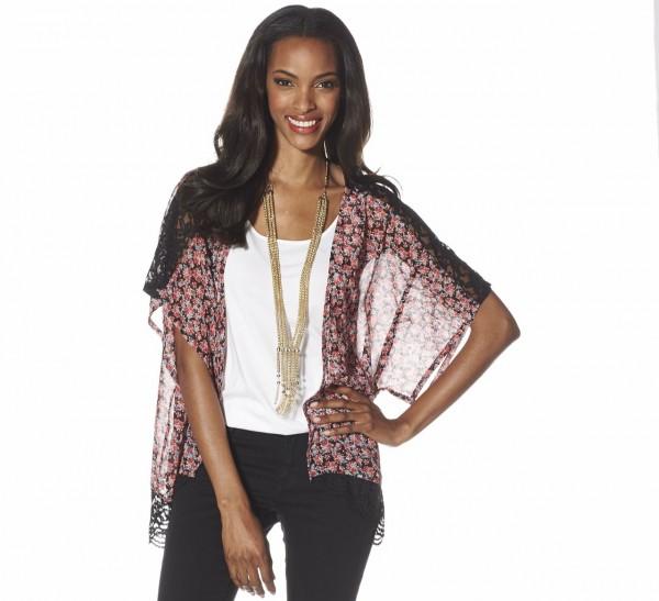 Jessica Simpson kimono jacket. A great completer piece