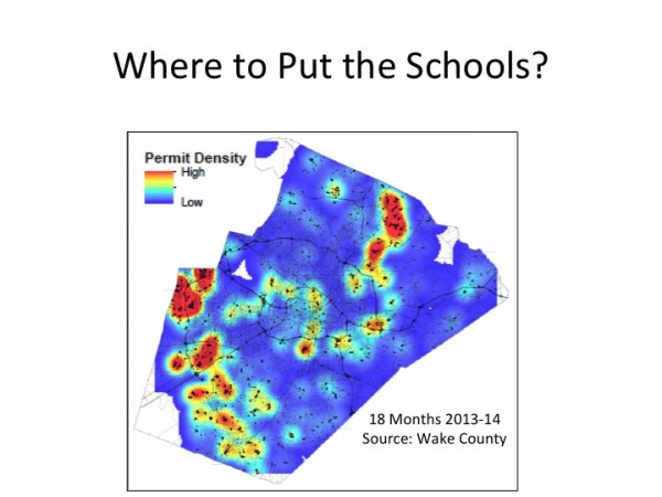 WCPSS map showing projected growth for Wake County