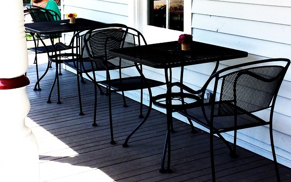 Dad might enjoy dining on the front porch of the historic Jones House.