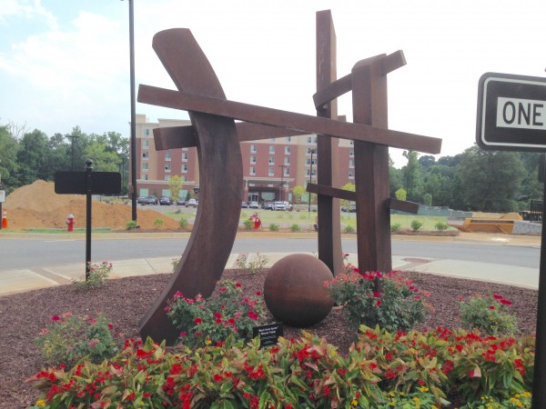 Cluebomb of public art in Cary