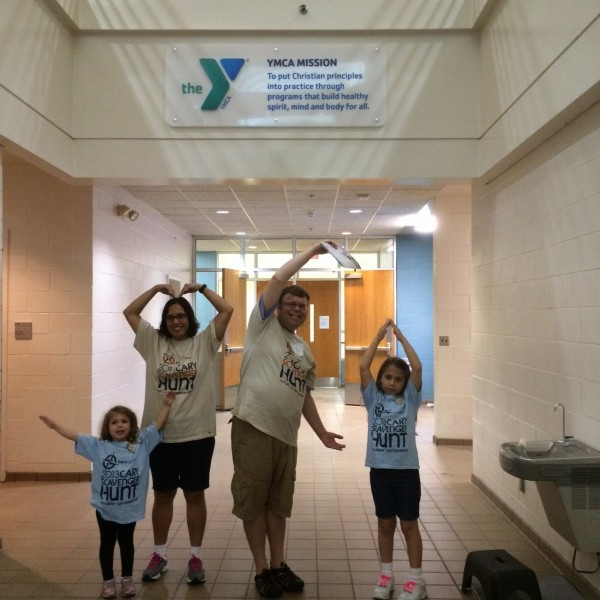 Team Blue Whales having fun at the Cary Family Y