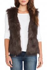 Fur vest from Duda at The Peachy Keen