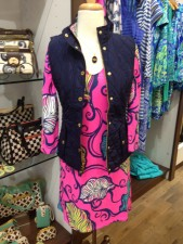 Ashworth's Prim & Proper carries Lilly Pulitzer and this vest is their nod to fall
