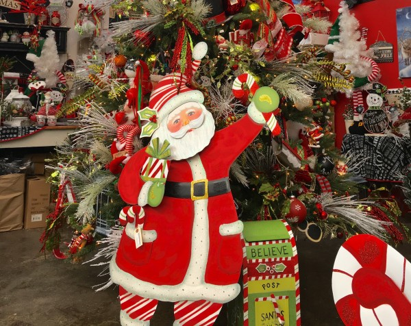 Santa is a Christmas staple and the store has a whole tree and area dedicated to him and his elves.