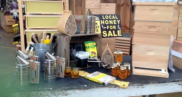 You can find honey and beekeeping supplies at Garden Supply Co.