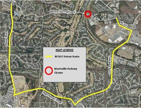NC DOT Detour Route