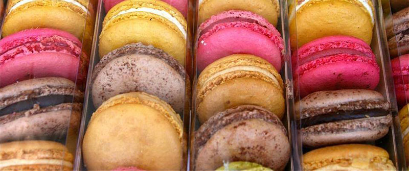 You'll find these colorful macaroons at Downtown Food & Flea!
