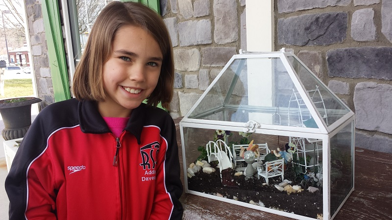 I ran into Addison, another fairy garden-builder, while I was at Ivy Cottage.