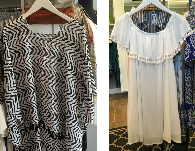 Fringe details on tops, dresses and layering pieces will be a key spring detail at Swagger in Lochmere Pavilion.