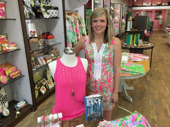 Stephanie Ashworth, owner of The Pink Pearl in Shoppes of Kildaire, says flamingo pink is the hot ticket this season
