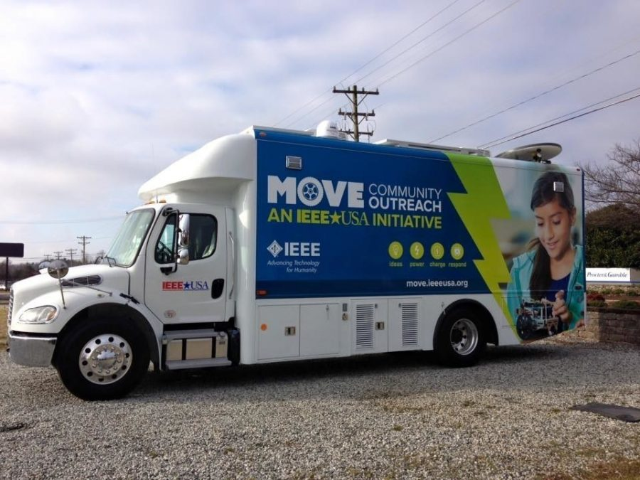 MOVE (Mobile Outreach Vehicle) was at Hopewell Academy Saturday, April 23, 2016 to educate community members on STEM education.