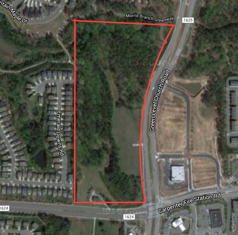 The Amberly Village shopping center's proposed site for rezoning and development.