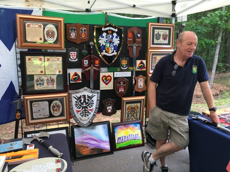 Handpainted crests and family heritage art