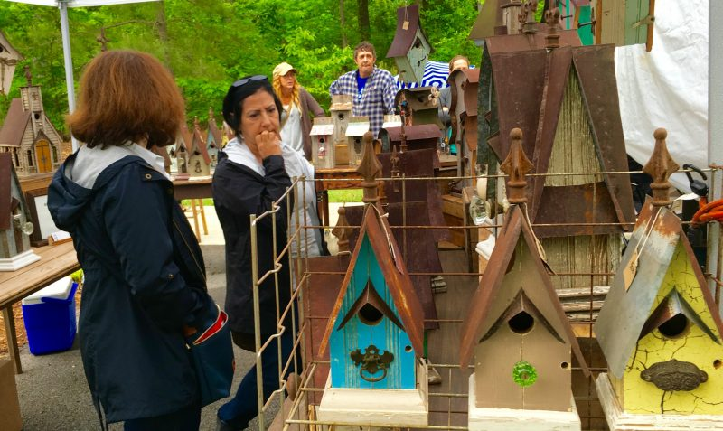 Up-cycled birdhouses by Recycling is for the Birds