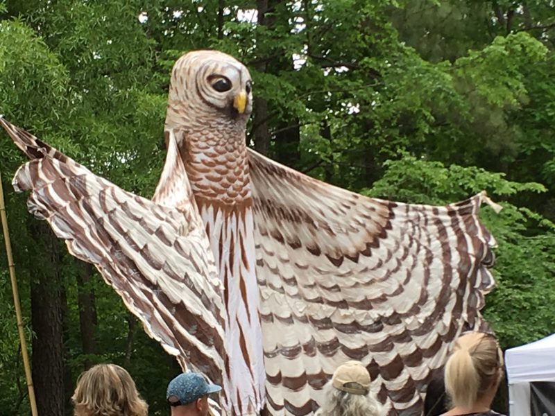 Paperhand Puppet Intervention made their first Spring Daze appearance with larger than life puppets.