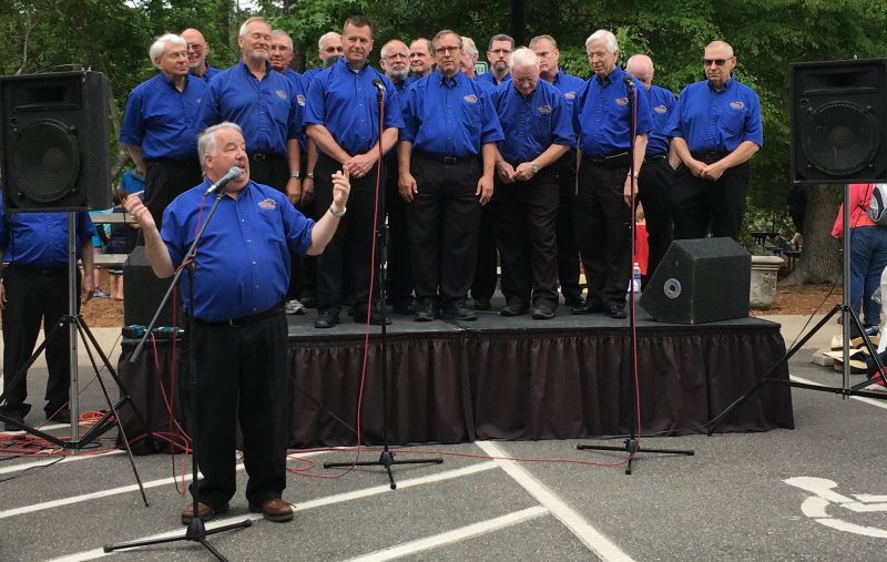 The General Assembly Chorus sang at the Boathouse Stage