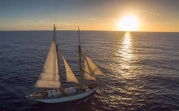 The Corwith Cramer, one of the most sophisticated research equipped vessel under sail in the United States.